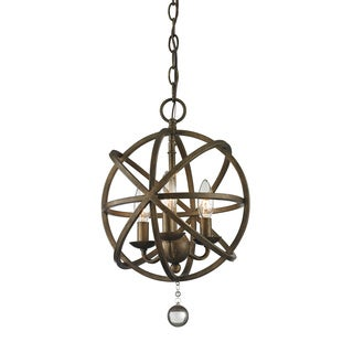Z-Lite Acadia 3-light Golden Bronze/ Clear Crystal Pendant