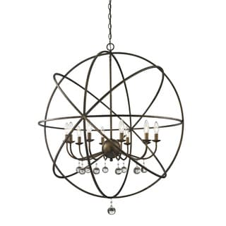 Acadia 10-light Golden Bronze and Clear Crystal Pendant
