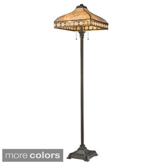 Z-Lite Crimson 3-light Mica/ Tiffany Floor Lamp