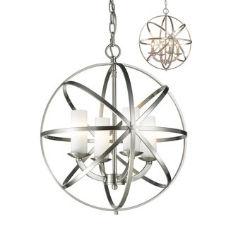 Z-Lite Aranya Brushed Nickel 4-light Chandelier