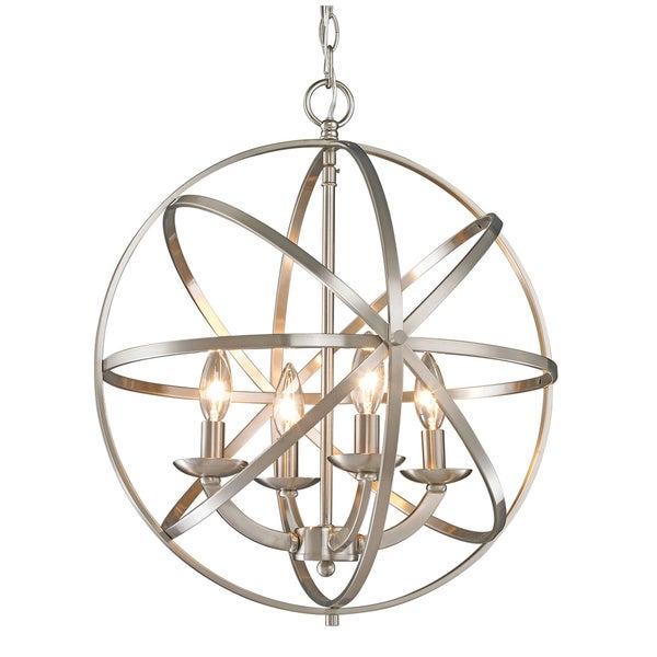 Z-Lite Aranya Brushed Nickel 4-light Chandelier - 16408967 - Overstock.com Shopping - Great ...