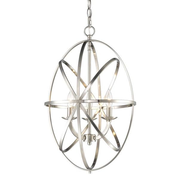 Z Lite Aranya Brushed Nickel Three Light Oval Chandelier