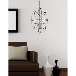 Z-Lite Aranya Brushed Nickel 4-light Oval Chandelier