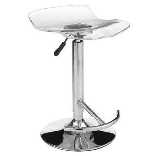 Sunpan California Acrylic Adjustable Bar Stool