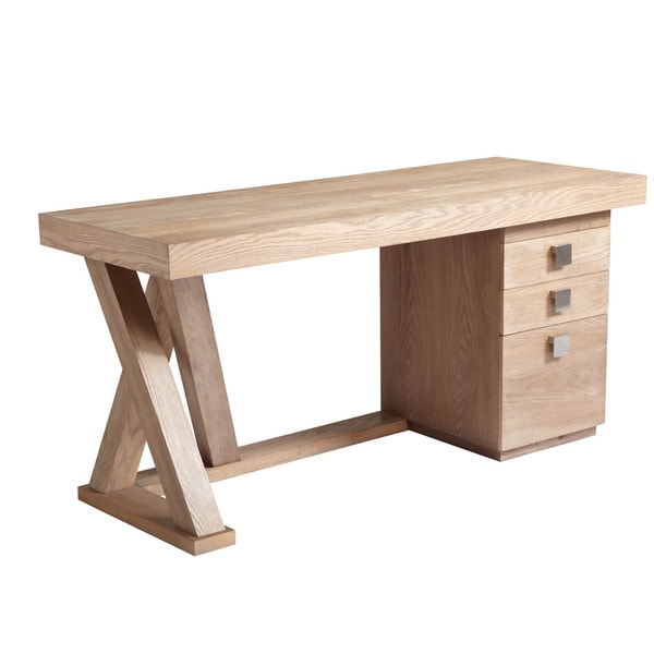 sunpan 39 ikon 39 madero contemporary wood desk with drawers 16409073