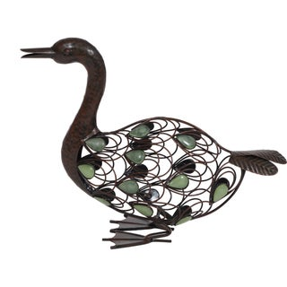 Glow-in-the-dark Beaded Sitting Duck Garden Statue