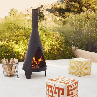 Colorado Mesh Steel Chimenea