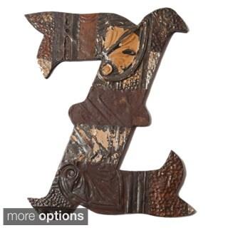 Ozark Folk Art Reclaimed Tin Letter Z