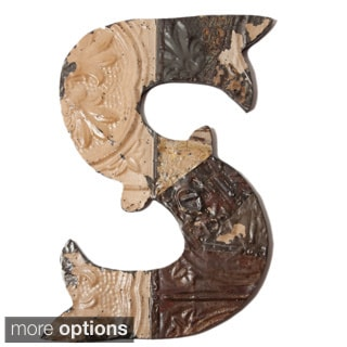 Ozark Folk Art Reclaimed Tin Letter S