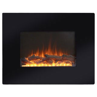 Black Metal 26-inch Wall Mount Electric Firebox