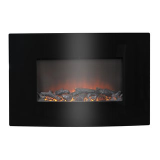 Black Metal 35-inch Wall Mount Electric Firebox