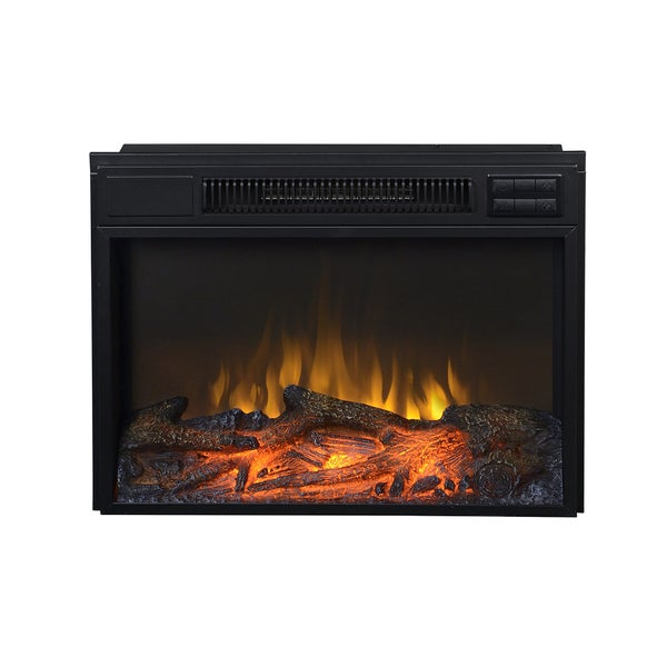 Black Metal 24-inch Electric Firebox Insert