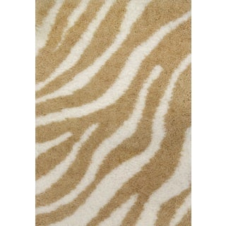 Trendy Contemporary Beige Ivory Rug (7'10 x 10'10)