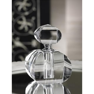 Modern Morocco Glass Perfume Bottle-curved Square