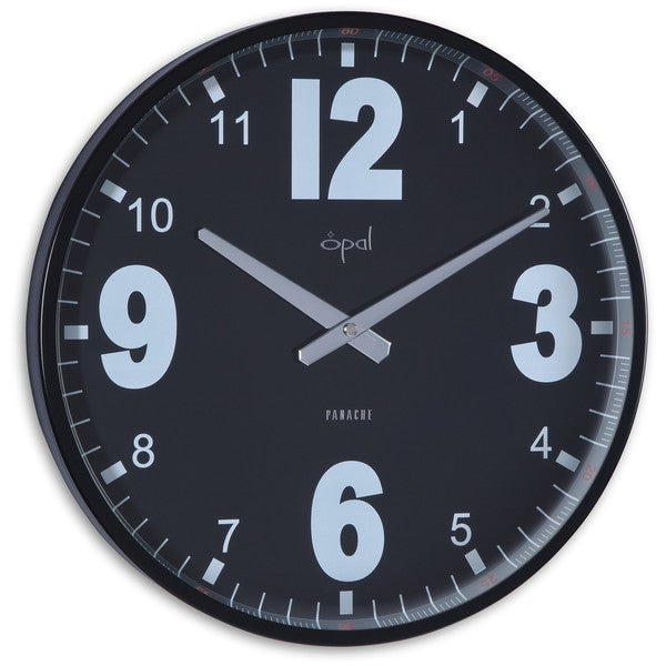 Opal Steel Black Case Stylish Clock