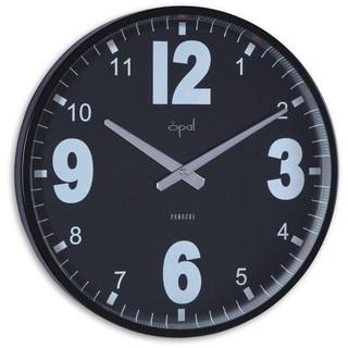 Opal Steel Black Case Stylish Clock