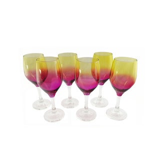 Summer Flare 6-piece Wine Glass Set
