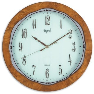 Opal Classy Finish Wooden Round Clock