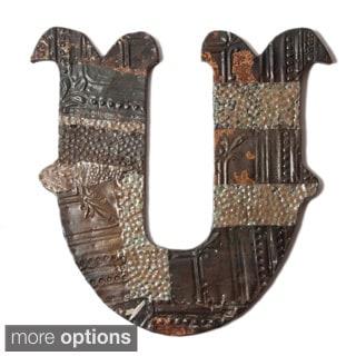 Ozark Folk Art Reclaimed Tin Letter U