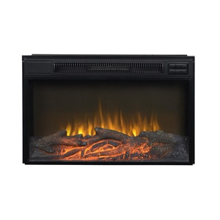 Black Metal 30-inch Wide Electric Firebox Insert