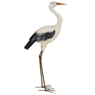 Tall Heron Garden Statue