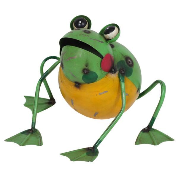 Frankie the Frog Garden Statue