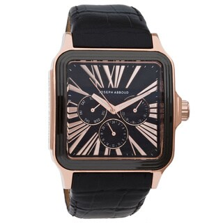 Joseph Abboud Men's Rose Goldtone Square-case Watch