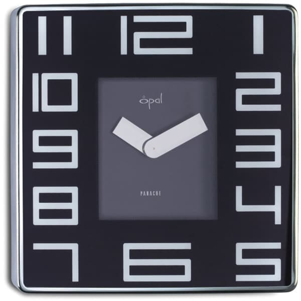 Opal Stainless Steel Square Case Clock