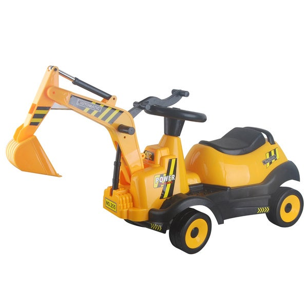 Merske Battery Operated 6V Ride-on 4-Wheel Excavator