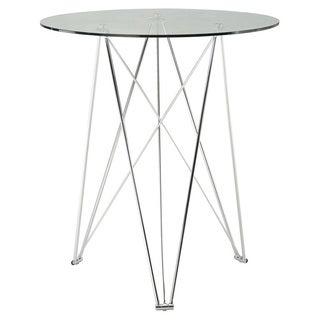 Sunpan Silvio Round Glasstop Bar Table