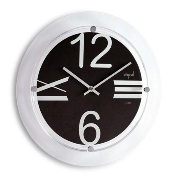 Opal Beveled Glass Clock with Designer Aluminium Dial