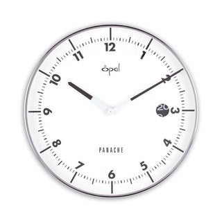 Opal Round Stainless Steel Case Clock