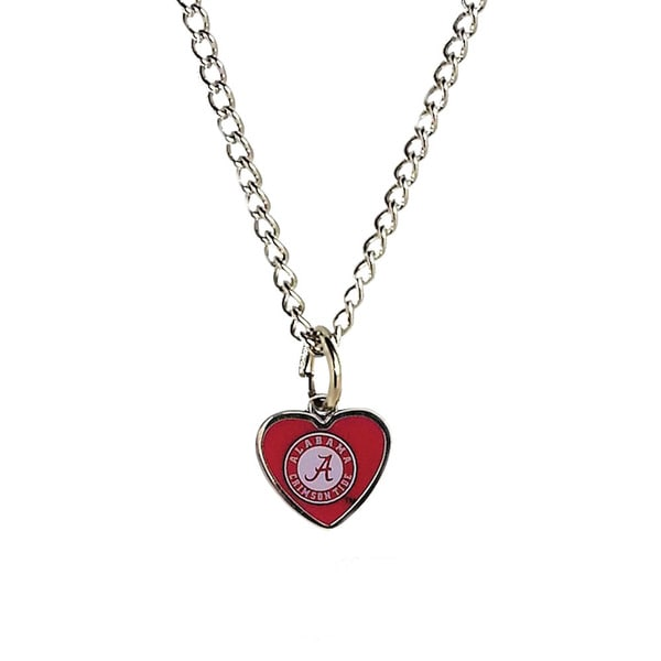 NCAA Alabama Crimson Tide Heart Shaped Pendant Necklace 13379049