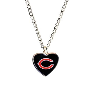 NFL Chicago Bears Heart Shaped Pendant Necklace
