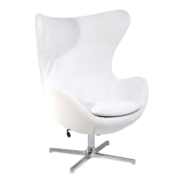 Muna White Fabric Arm Chair