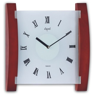 Opal Wood and Frosted Glass Clock