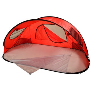 Extra Large Red Pop-up Family Beach Shelter
