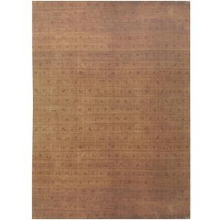 Herat Oriental Indo Hand-knotted Tibetan Gold/ Tan Wool Rug (8'2 x 11'7)