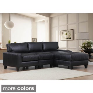 Lasalle Bonded Leather Three-piece Sectional