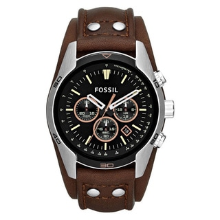 Fossil Men's CH2891 Coachman Brown Leather Watch