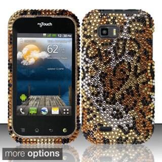 INSTEN Design Full Diamond Bling Hard Plastic Phone Case Cover for LG myTouch Q C800 , Maxx Q