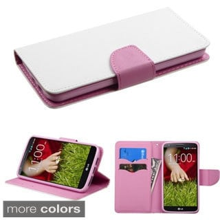 BasAcc Stand Magnetic Flap ID Card Slots Wallet Leather Case Cover for LG G2