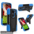 INSTEN Stand Shockproof Hard Plastic PC Soft Silicone Hybrid Phone Case Cover for LG G2 Mini LS885