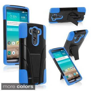 BasAcc Kickstand Shockproof Hard PC Soft Silicone Hybrid Case for LG G3