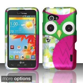 INSTEN Design Pattern Dust Proof Rubberized Hard Plastic Phone Case Cover for LG Enact VS890