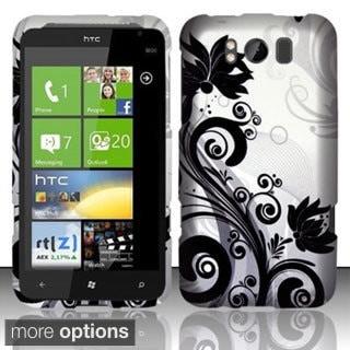 INSTEN Design Pattern Dust Proof Rubberized Hard Plastic Phone Case Cover for HTC Titan