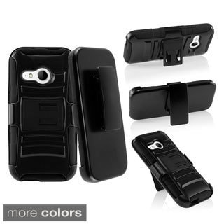 BasAcc Stand Holster Belt Clip Hard PC Silicone Hybrid Case for HTC One Mini 2