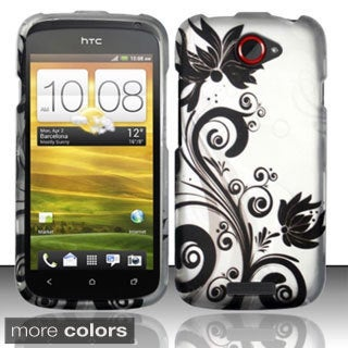 INSTEN Design Pattern Dust Proof Rubberized Hard Plastic Phone Case Cover for HTC One S
