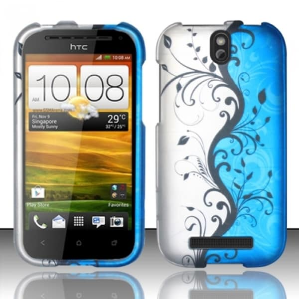 INSTEN Design Pattern Dust Proof Rubberized Hard Plastic Phone Case Cover for HTC One SV