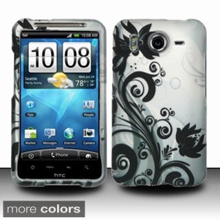 INSTEN Design Pattern Dust Proof Rubberized Hard Plastic Phone Case Cover for HTC Inspire 4G